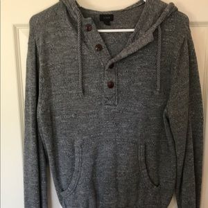 J.crew Henley hooded sweater